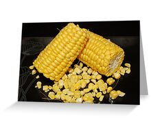 Sweetcorn : Fresh and Sweet Greeting Card