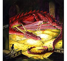 Smaug the golden Photographic Print