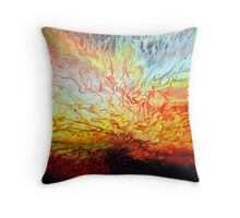 Liquid Acrylic Paint Explosion Throw Pillow