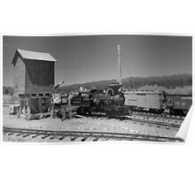 Sumpter Valley Railroad 3 refueling 2 Poster
