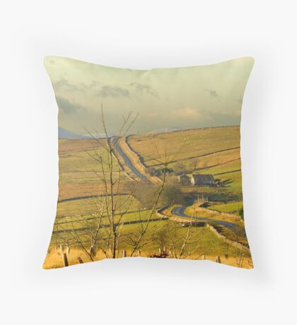 Dales Country Road Throw Pillow
