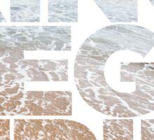 King Megatrip Neo Logo - Beach Sticker