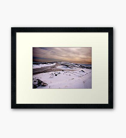 Winter on the Moors Framed Print