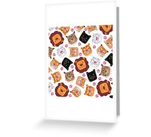 Smiley cats Greeting Card