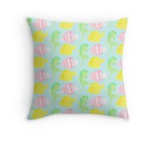 Psychedelic Fish Throw Pillow