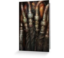 Steampunk - Pipes Greeting Card