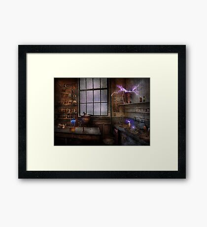 Steampunk - The Mad Scientist Framed Print