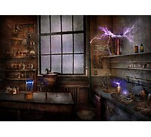Steampunk - The Mad Scientist Photographic Print