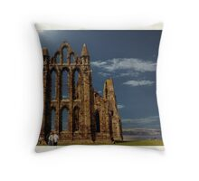 Whitby Abbey. Throw Pillow
