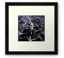 Apollo Archive 0028 Moon Equipment on Lunar Surface Framed Print