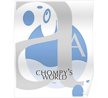 Chompy's World | Letter A Poster