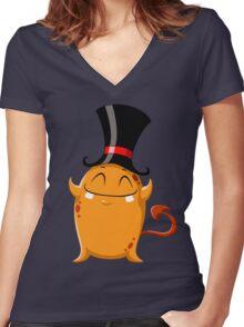 Halloween Monster 7 Women's Fitted V-Neck T-Shirt