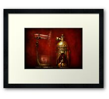 Steampunk - The Torch Framed Print