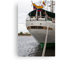 The rear of Gloria, a tall ship from Columbia Canvas Print