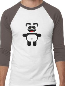 PANDA Men's Baseball ¾ T-Shirt