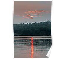Sunset Canoe - Kennebec Lake, Ontario Poster