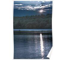 Sunset Paddler - Kennebec Lake, Ontario - Infrared Poster