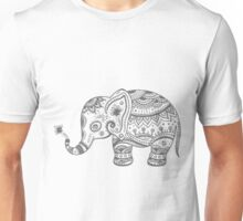Gray Tones Cute Elephant Unisex T-Shirt