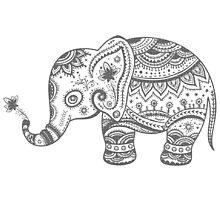 Gray Tones Cute Elephant by artonwear