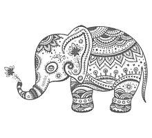 Gray Tones Cute Elephant Photographic Print