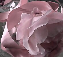 Pink Ribbon And Rose by lynn carter