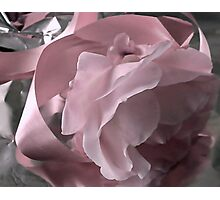 Pink Ribbon And Rose Photographic Print