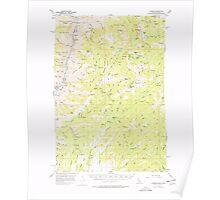 USGS Topo Map Idaho Cuprum 239020 1957 62500 Poster