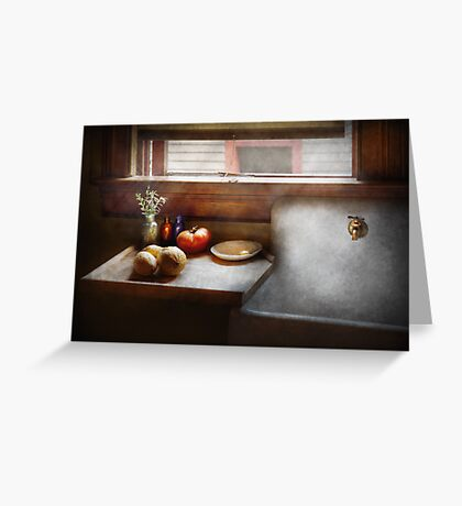 Kitchen - Sink - Farm Kitchen  Greeting Card