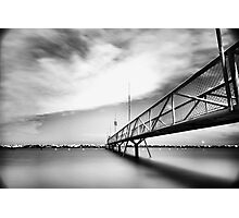 Black and white bridge Photographic Print