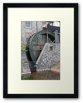 A water mill at Buckfastleigh Abbey by Keith Larby