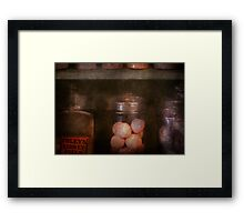 Pharmacy - Kidney pills & Suppositories Framed Print