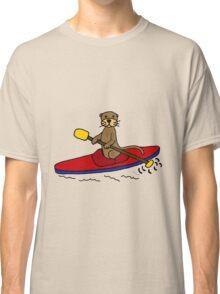 Awesome Sea Otter Kayaking Original Art Classic T-Shirt