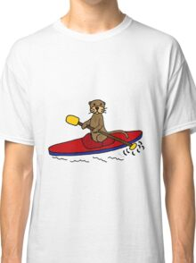 Awesome Sea Otter Kayaking Original Art Classic T-Shirt
