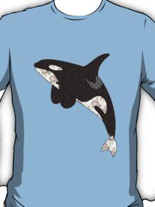 Floral  Killer Whale T-Shirt