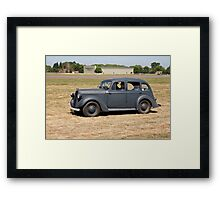 An 8hp Austin in use during WW2 Framed Print