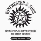T-SHIRT SUPERNATURAL WINCHESTER &amp; SONS by thischarmingfan