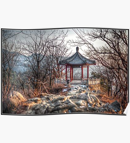 Gazebo on the Great Wall Poster