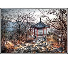 Gazebo on the Great Wall Photographic Print