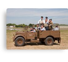An RAF Vehicle at The Biggin Hill airshow 2010. Canvas Print