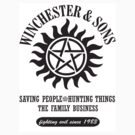 STICKER - SUPERNATURAL WINCHESTER & SONS by thischarmingfan