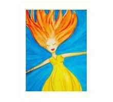 Fiery Art Print