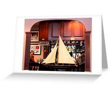 Restaurant Sailing Ship View By Jonathan Green Greeting Card