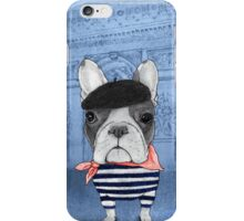 Frenchie With Arc de Triomphe iPhone Case/Skin
