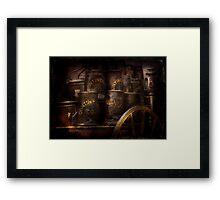 Fireman - Bucket Brigade  Framed Print