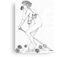 Ink Drawing Canvas Print