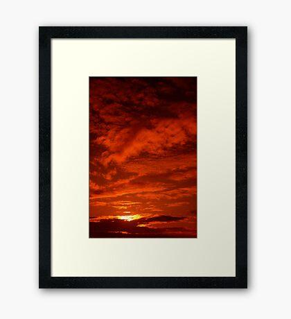 Red Sky North Sea Framed Print