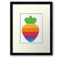 Radish logo Framed Print