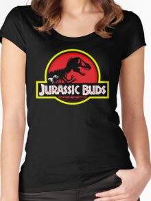 Jurassic Buds (red) Women's Fitted Scoop T-Shirt