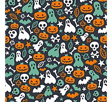 Cute Halloween Pattern Photographic Print