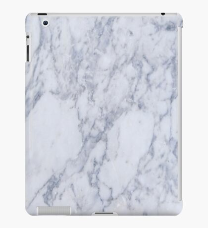 White And Gray Marble Stone Pattern iPad Case/Skin